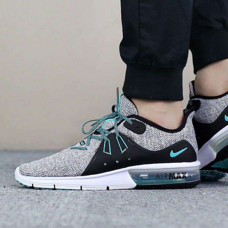 c15a7105de8 Details about NIKE AIR MAX SEQUENT 3 921694 100 HYPER JADE MEN S RUNNING  SHOES 100% AUTHENTIC