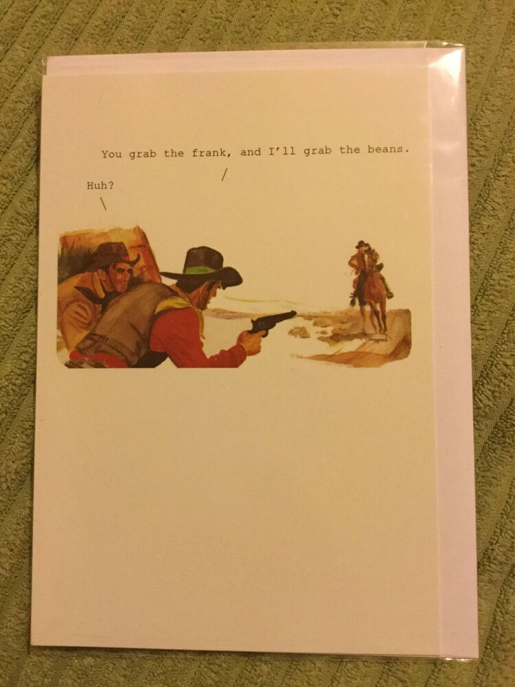 Details About Funny Cowboy Birthday Card New And Sealed