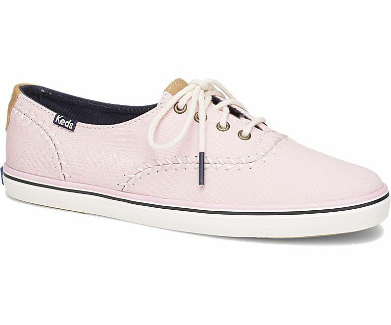 e3b16b3dd Details about Keds Women s Champion Pennant Canvas Lace-Up Sneaker Light  Pink Pick A Size