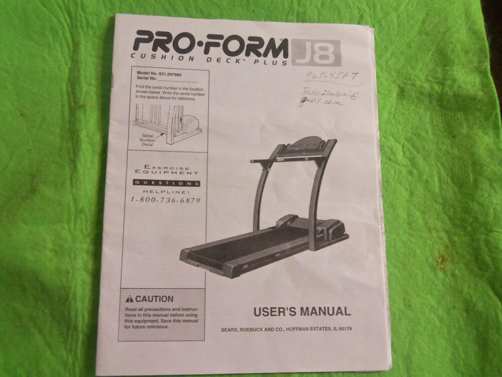 Proform heart rate monitor 545s user manual   16 pages.