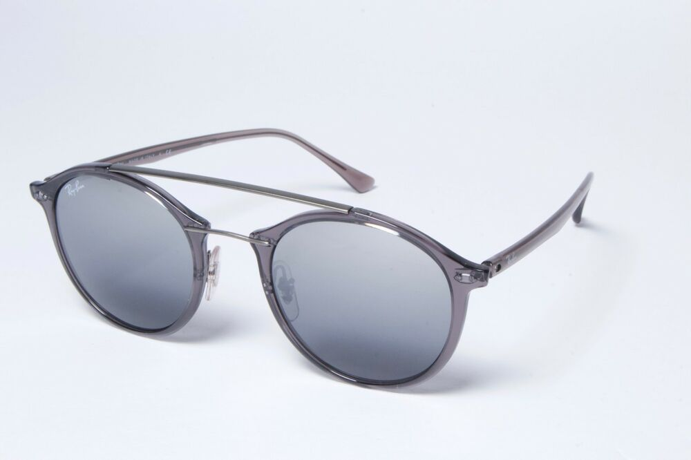 a4df80f7ebf Ray-Ban Round RB4266 6200 88 Grey Grey Gradient Mirror Sunglasses 49mm  NonPol
