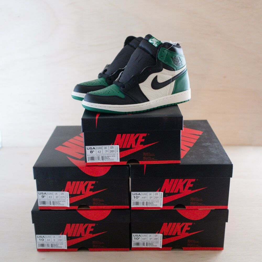 4c6934eb1b7 Details about Nike Jordan 1 Retro High OG Pine Green Sizes 8.5