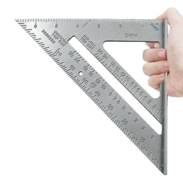 7'' Aluminum Speed Square Triangle Ruler Protractor Miter Framing Measuring FHA