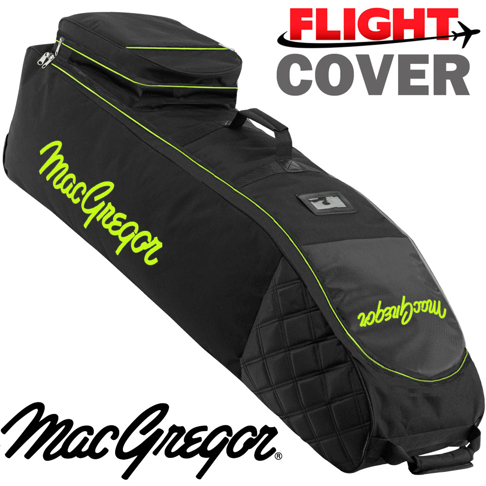 Details about MACGREGOR XL DELUXE WHEELED PADDED GOLF BAG FLIGHT TRAVEL  COVER BLACK   LIME cc8145704d9f1