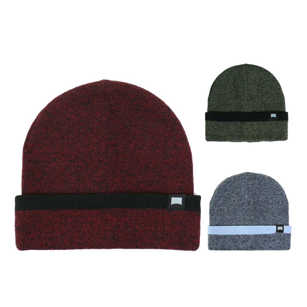 1d2bd601d11 Details about Beautiful Giant Men s Warm Solid Cuff Skull Hat Knit Beanie  Stretch Fit Cap