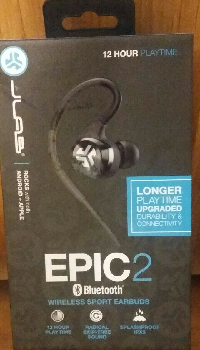 4f22ee15223 ... UPC 812887015448 product image for Jlab Audio Epic2 Bluetooth 4.0 Wireless  Sport Earbuds, Guaranteed Fitness ...