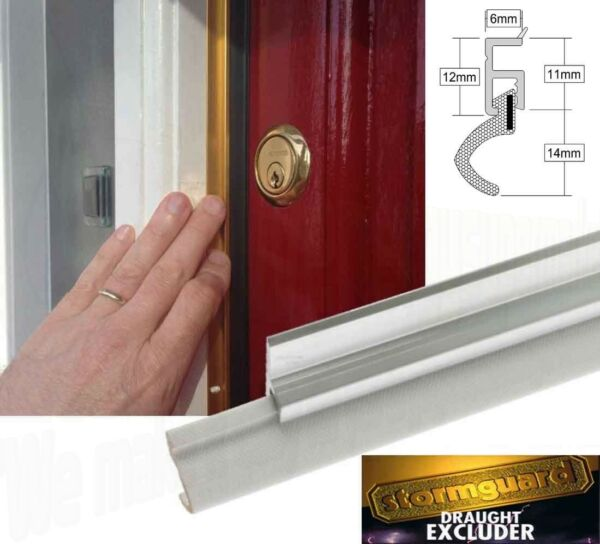 Fitting a stormguard self adhesive rubber seal draught excluder strip