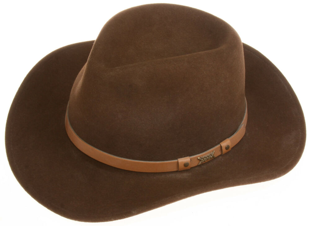 030104ae0d9e4 Details about MINNETONKA Lite Wool Felt Western Cowboy Hat size 7 1 2 (XL)  MADE IN USA  VGU