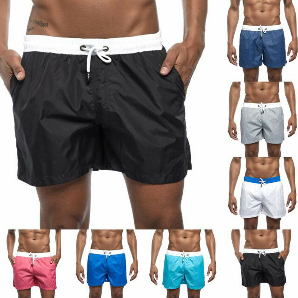 ea0b24a9e9 Details about Plus Mens Swim Drawstring Trunks Quick Dry Beach Surfing Running  Swimming Shorts
