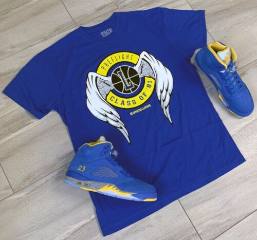 Effectus Clothing Tee to match Jordan Retro 5 Laney. PreFlight Tee.