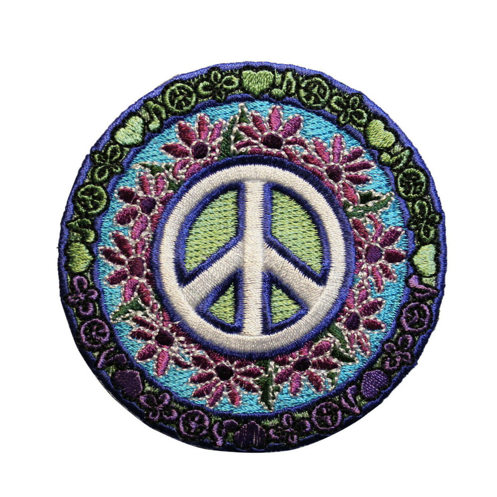 822fc91fe78e Details about love music peace sign embroidered iron on patch hippie flower  jpg 1000x1000 Music peace