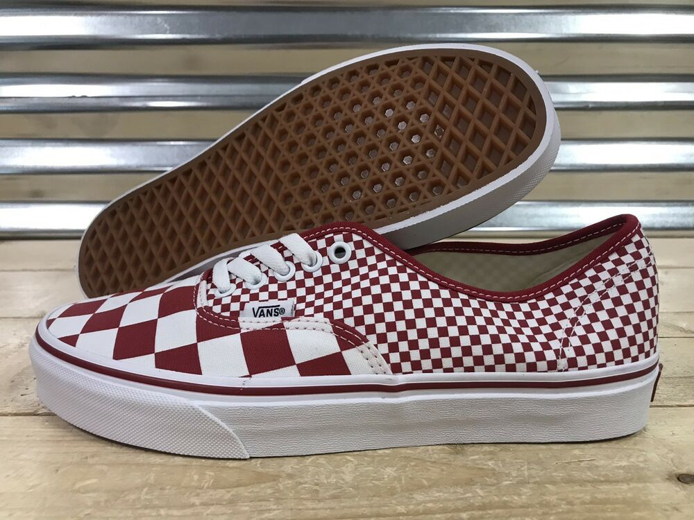 fffcfbf1fa2c Details about Vans Authentic Mix Checker Skateboard Shoes Chili Pepper SZ 9  ( VN0A38EMVK5 )