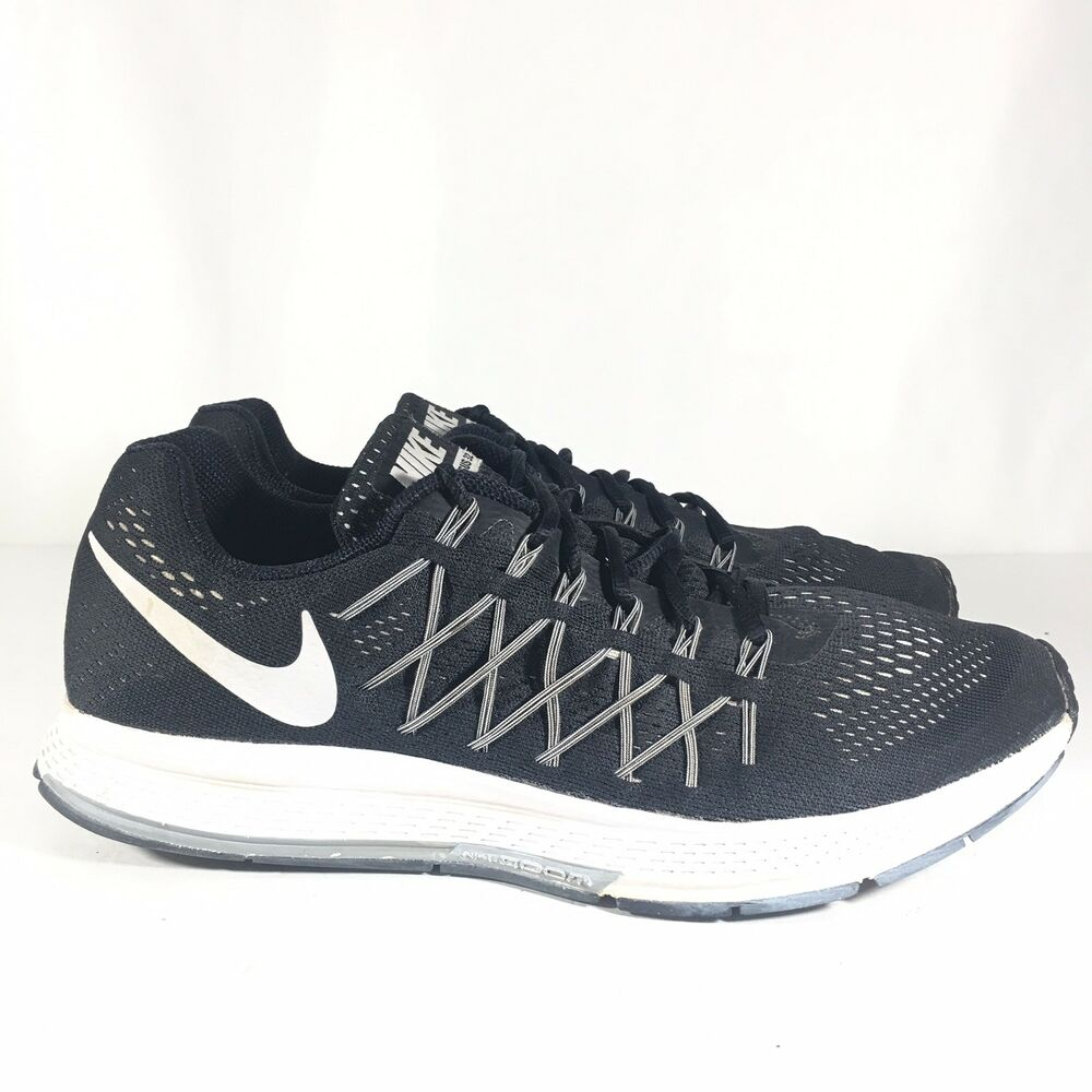 Details about Nike Air Zoom Pegasus 32 Men s US Size 11 Black Running Shoes  Cross Train Shoes c2f9db1ed4