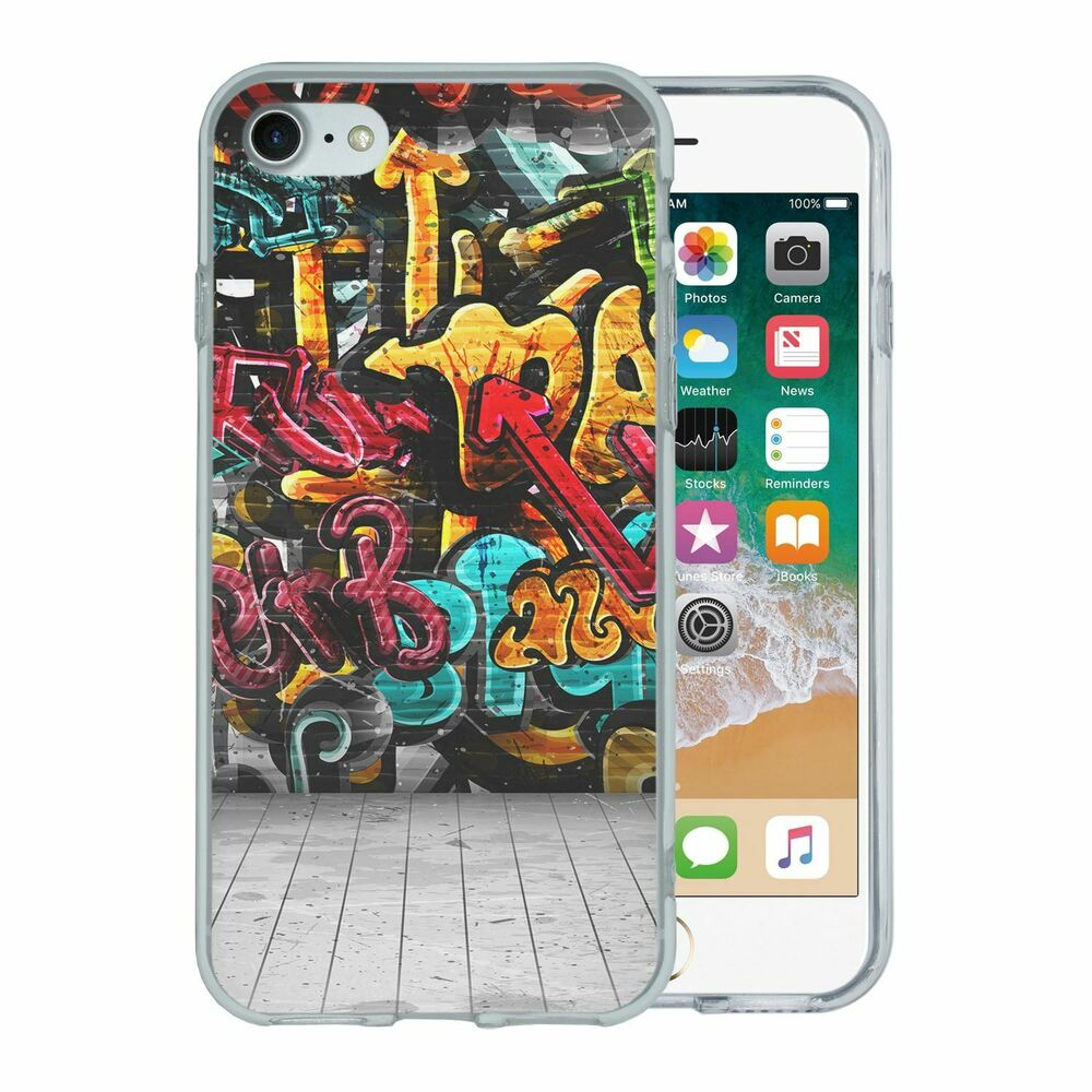 Details about for apple iphone 8 silicone case graffiti art s6753
