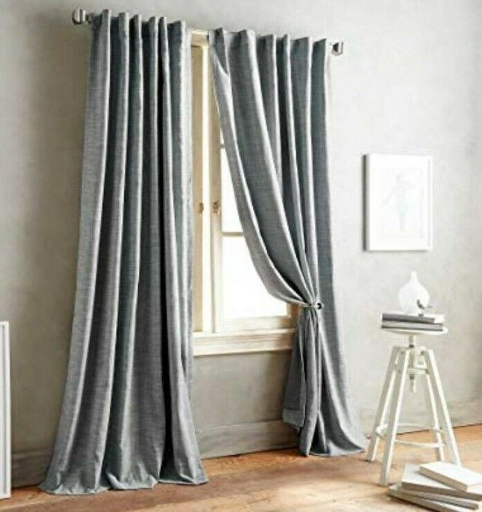 DKNY Front Row 95-Inch One Back Tab Lined Window Curtain