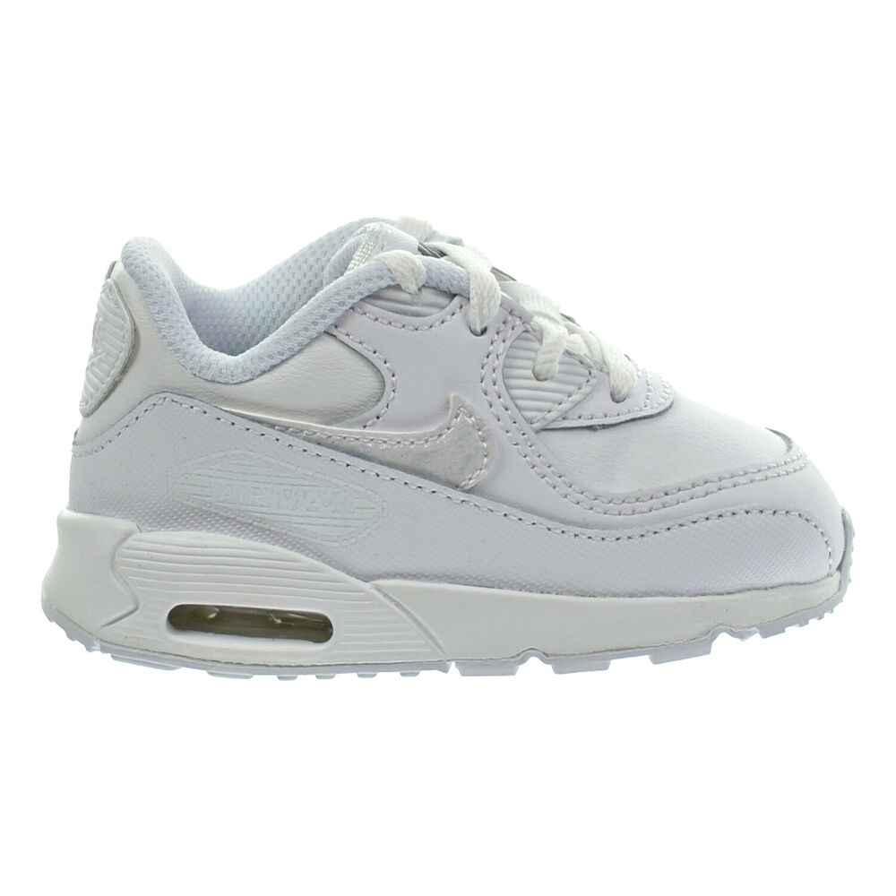 a72c040bf25 Details about Nike Air Max 90 LTR (TD) Toddler Shoes White White Cool Grey  724823-100