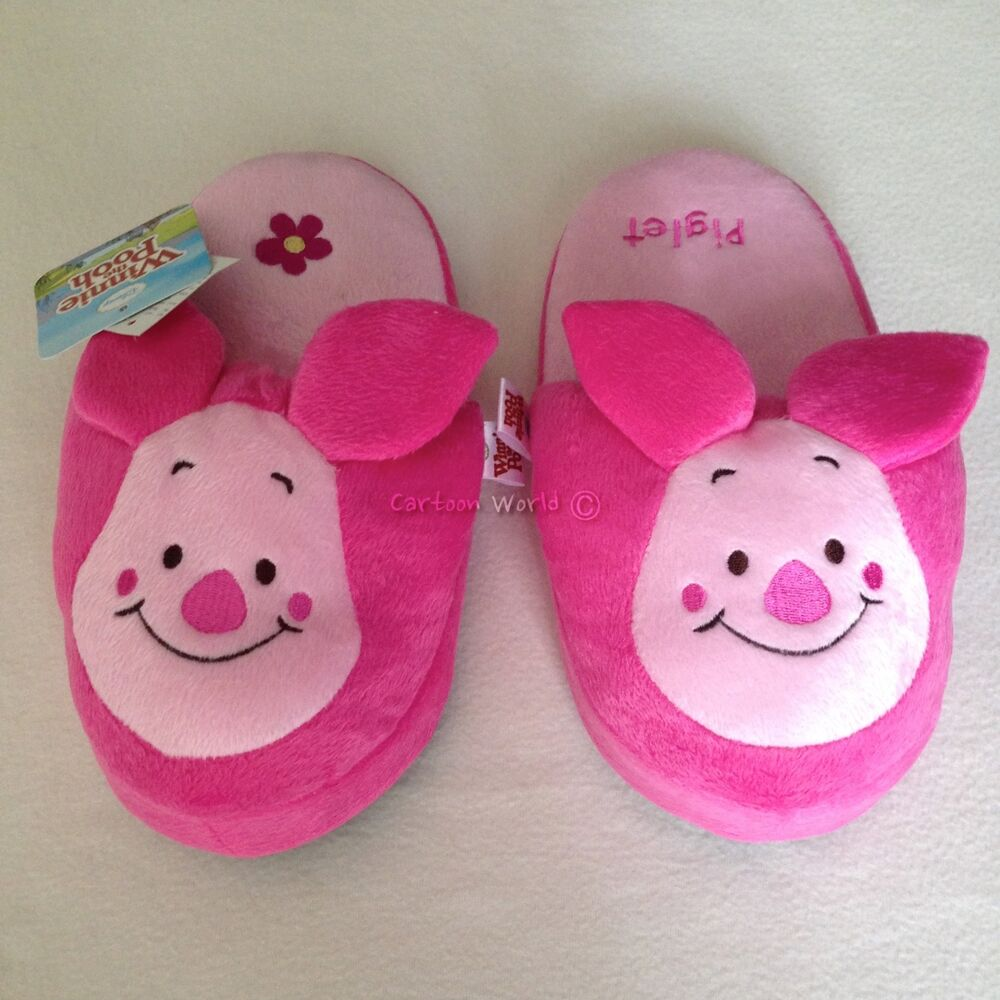 6b793dc8fd01 Details about Disney Winnie The Pooh Piglet Slippers US 5-9
