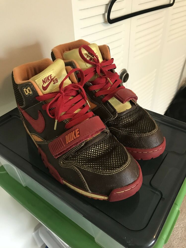 huge discount a6d92 386ae New 2005 NIKE AIR TRAINER 1 SB HUF GOLD DIGGER QS 306193 261 SIZE 12 Bamboo  Dunk  eBay
