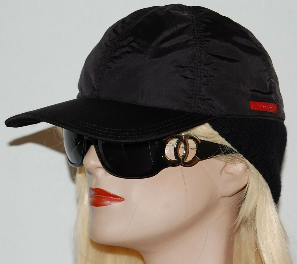 Details about Prada Black Baseball Hat Cap Medium 561cb00cead