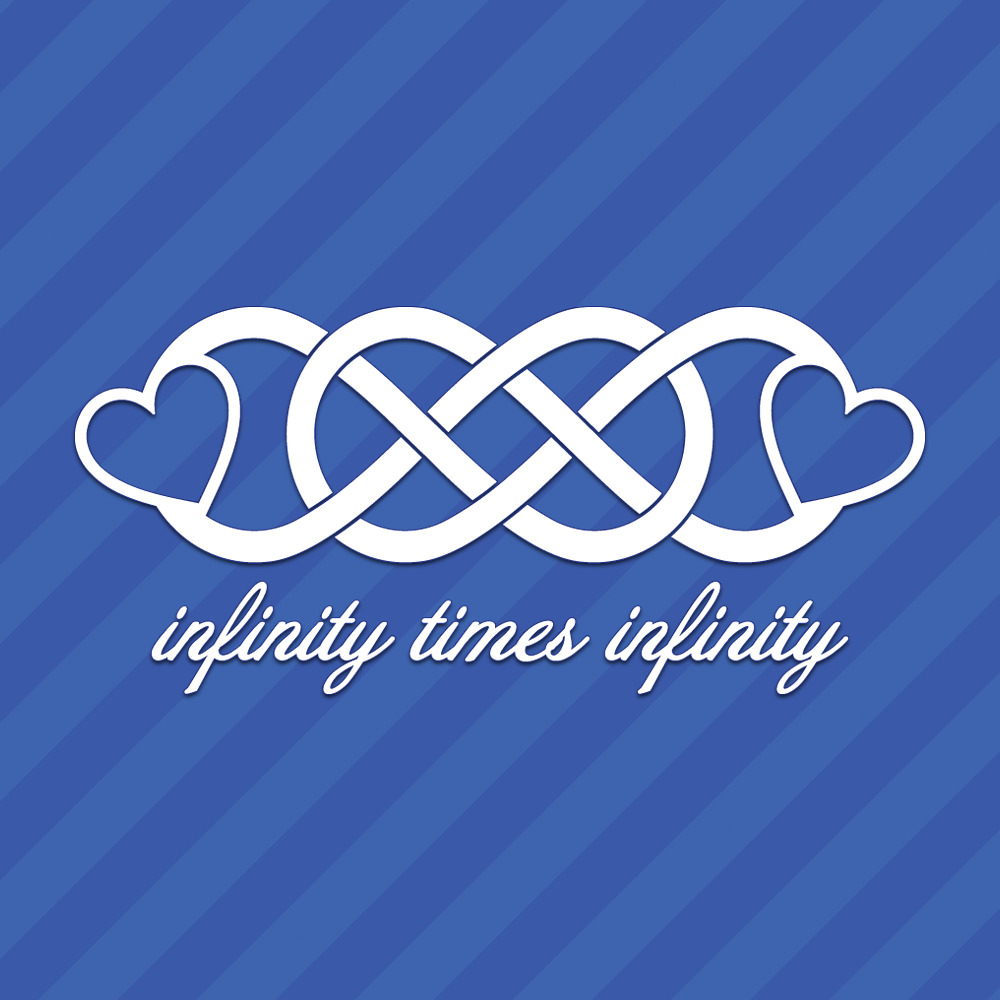 Details about infinity times infinity with hearts love vinyl decal sticker
