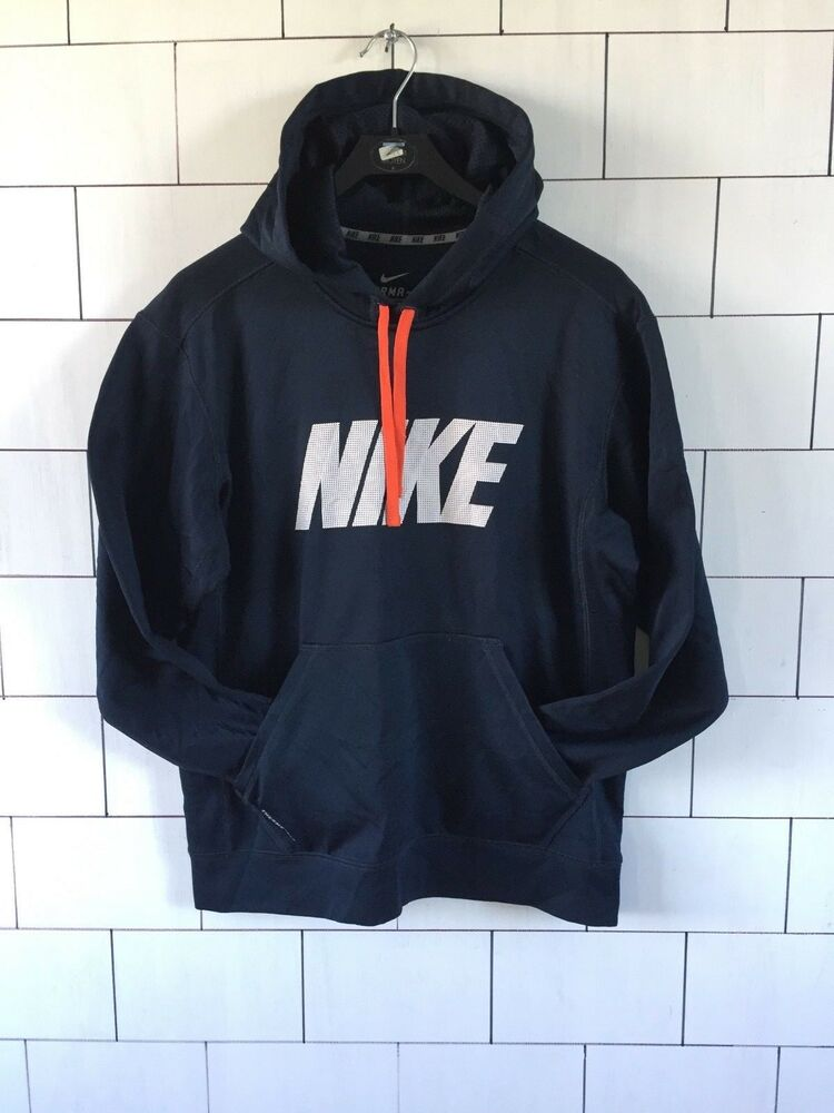 Details about MENS VINTAGE RETRO NIKE THERMA-FIT POLYESTER SWEATSHIRT  SWEATER HOODIE UK M  45 6fb0f390dc99