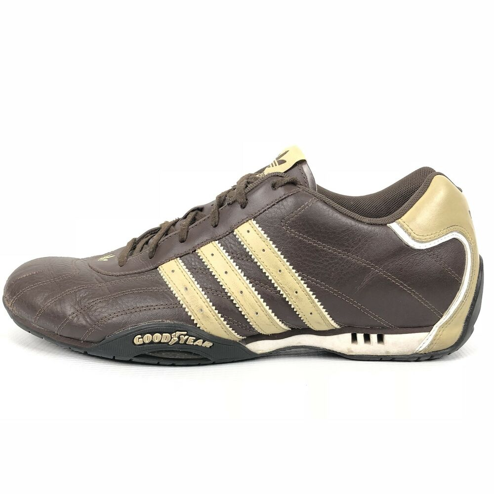Details about RARE Adidas Adi Racer Goodyear Driving Shoes Sz 11 Brown  Leather Vintage Trefoil 63bd35c6b