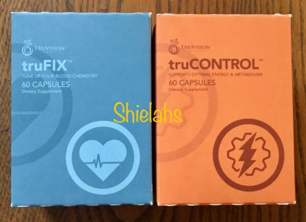 WEIGHT LOSS Truvision 30 DAY tru FIX truCONTROL 120 Capsules 1 MONTH 4 Week DIET