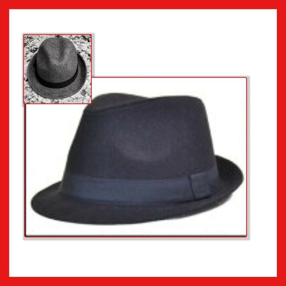 Details about FEDORA HAT From GAP Gray or Navy Wool NEW   Sizes S M dba4f1f240e