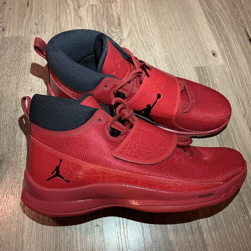 86a050fc7671 Details about Nike Jordan Super Fly 5 PO Basketball Shoes Mens Size 10 Red  Black 881571-601