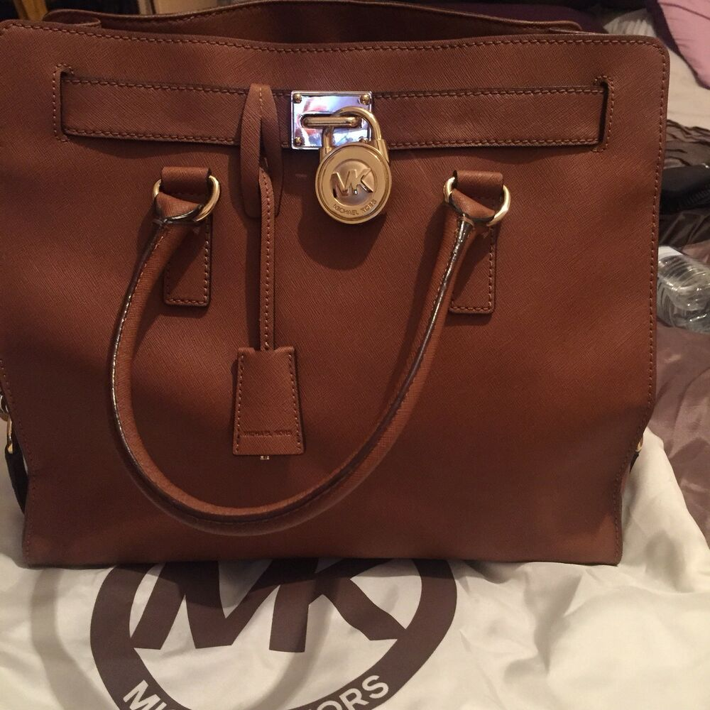 3c09e5804507 Details about Michael Kors Large Tan Hamilton Tote Bag (used for 1 month  only)