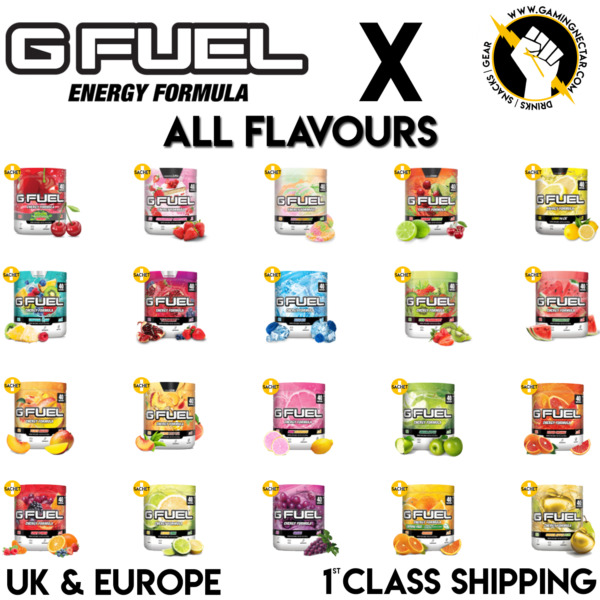 EUROPES SOURCE OF GFUEL | 40 SERVINGS-FREE DELIVERY+1 FREE G FUEL SACHET