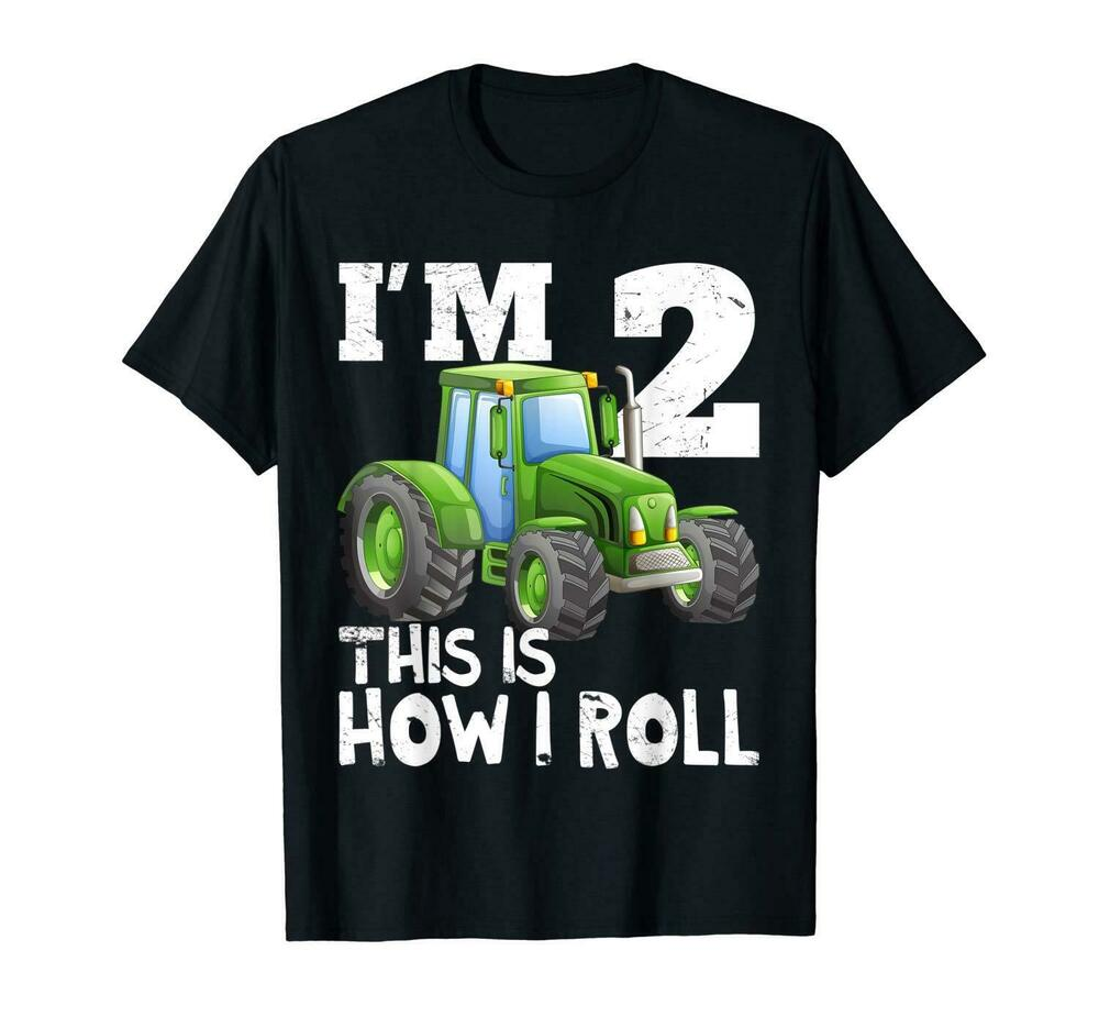 Details About Kids Farm Tractor 2nd Birthday Party Shirt Two Years Old
