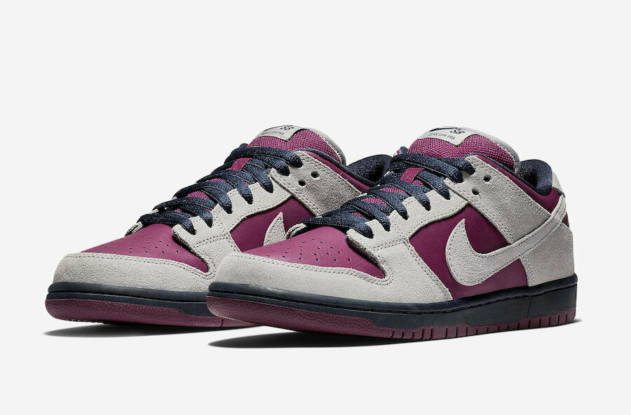 online store db105 d47b6 Details about Nike SB Dunk Low Pro Burgundy   Grey BQ6817-001  90