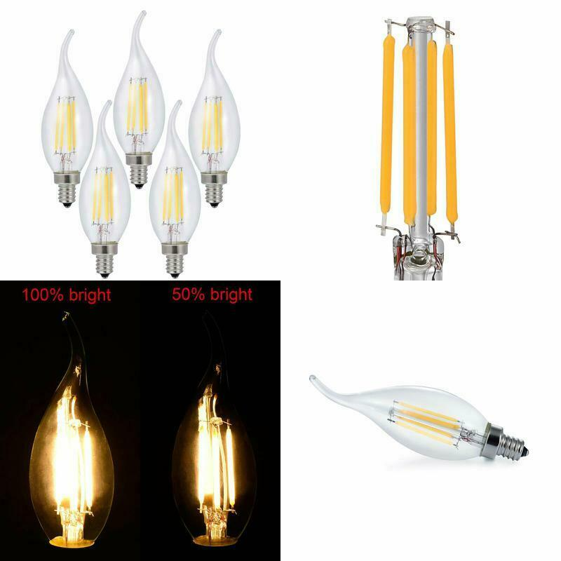 Details About Luminosum Dimmable Led Candelabra Bulb 4w 40w Equivalent Clic Edison Style