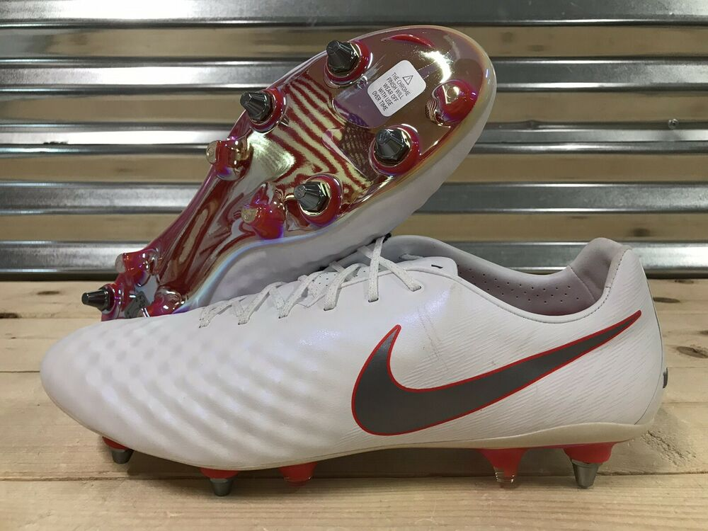 136c7f7c6093 Details about Nike Magista Obra 2 Elite SG-Pro Soccer Cleats White Grey Red  SZ ( AH7405-108 )