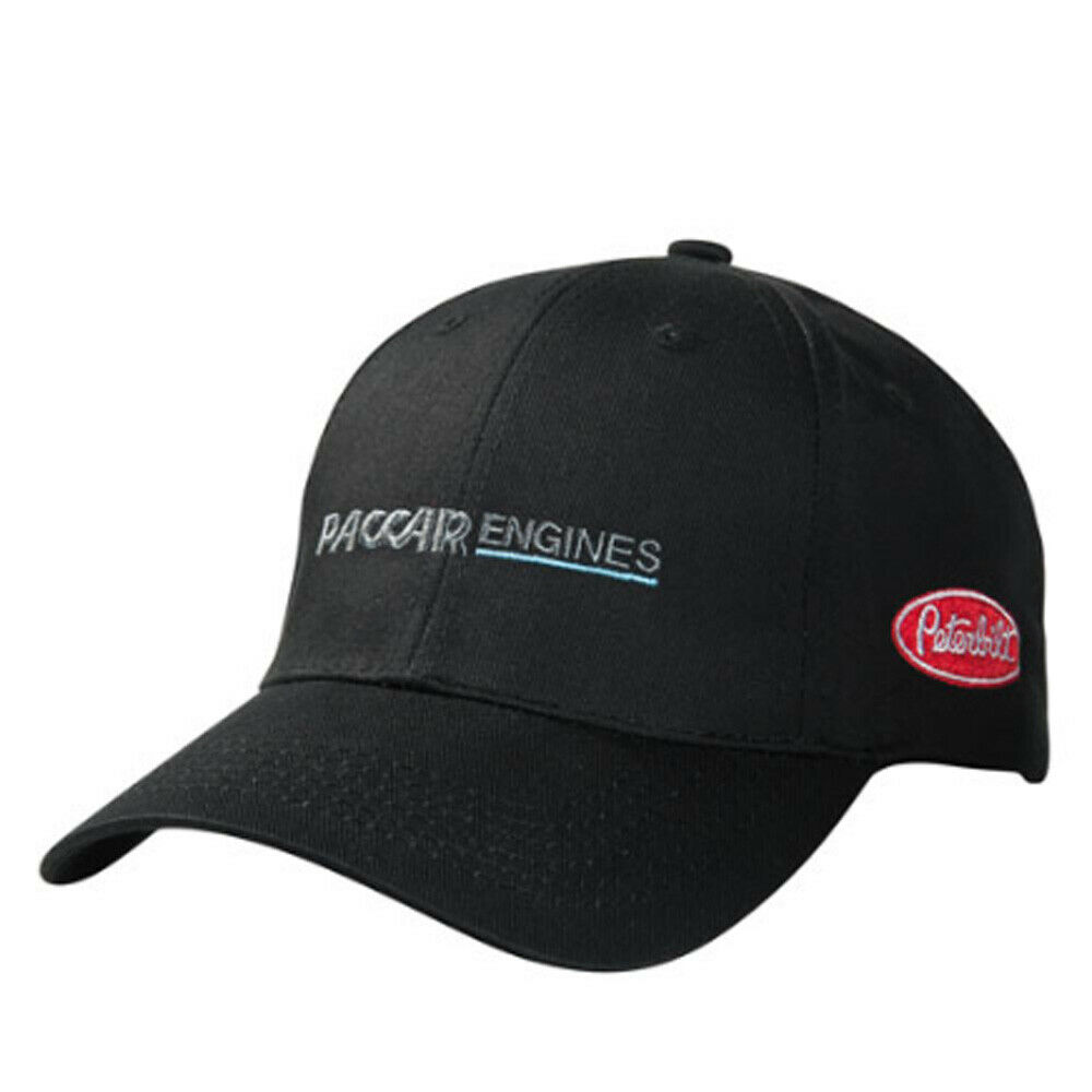 afd3e5b83bf Details about Peterbilt Motors Trucks Black PACCAR Engines Logo Hat Cap