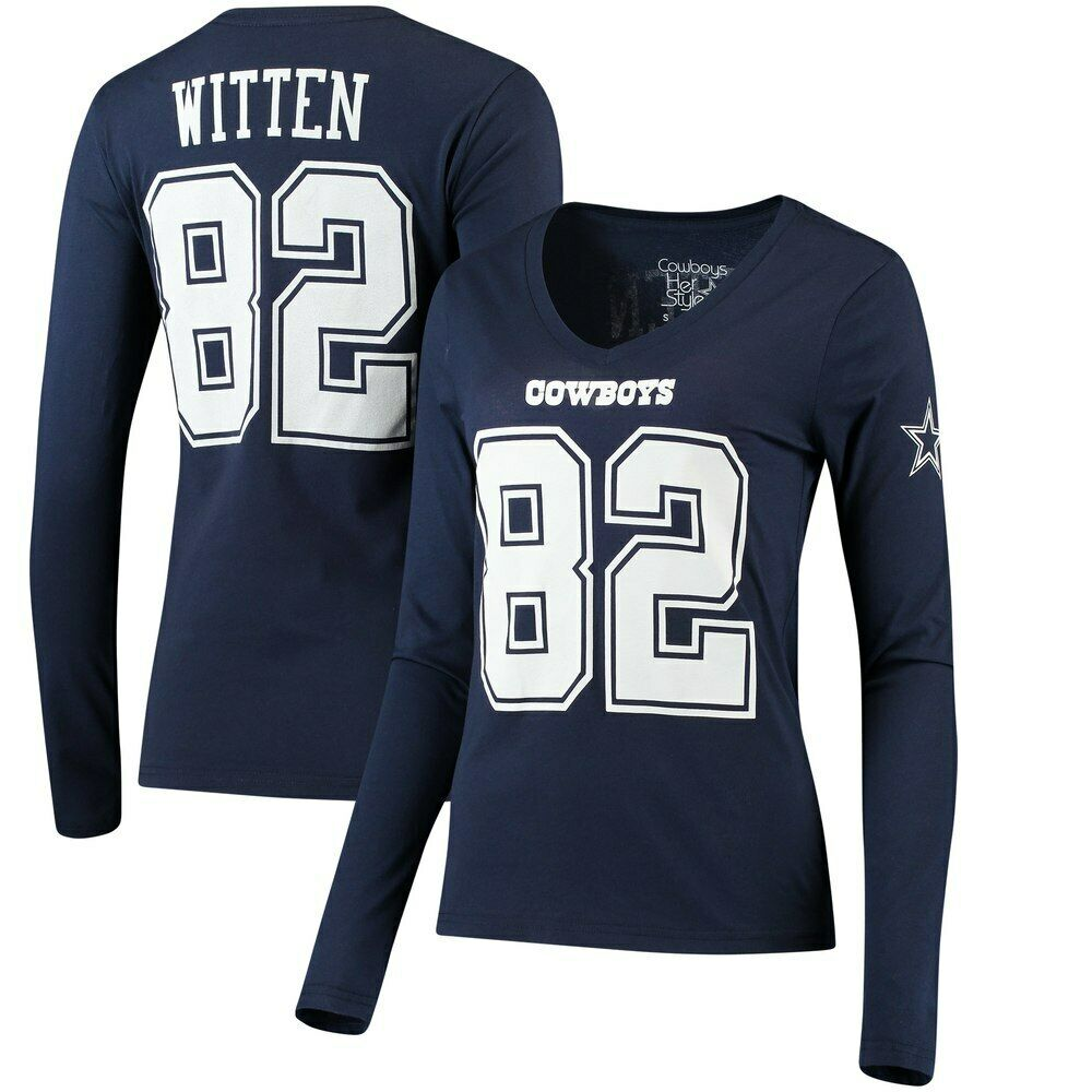 244ffef27 Details about Jason Witten Dallas Cowboys Women's Navy Long Sleeve Eligible  Player T-Shirt