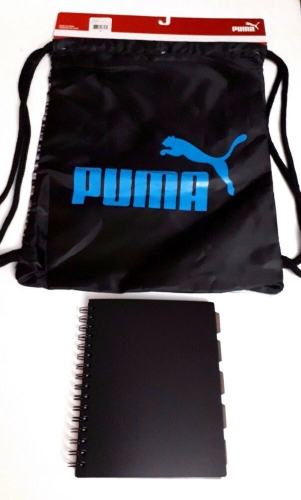 Details about PUMA Boys Carry Sack Backpack Gym Shoes Sports School  Notebook Set  ONLY SET  2b7ecb1ed0437