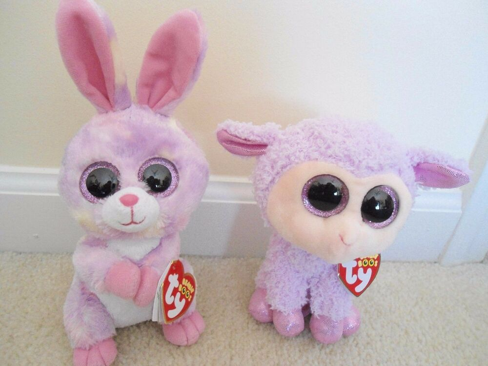 47d37cabf3a Ty Avril   Orchid Easter Bunny Lamb Boo Set.2016 EXCLUSIVES