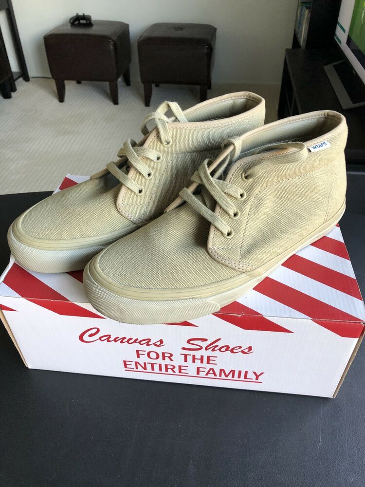 48c62b9538 Details about Wtaps Vans Chukka Tan Mens 8 Canvas Great Condition With Box