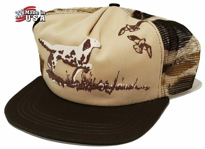 7a0be91e511c2 Details about Vintage NWT 50 s-70 s Hunting Trucker Mesh Camo Hat RARE  SETTER BIRD DOG