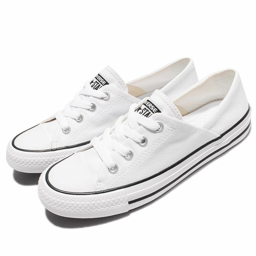 1e9b9a08d971 Details about Converse Chuck Taylor All Star Low Top Coral 555901C Women s  - White Black White