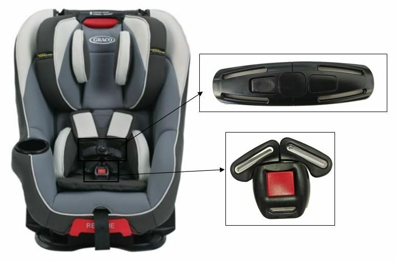 Details About Graco Head Wise 65 Toddler Child Car Seat Harness Chest Clip Buckle Safety Set