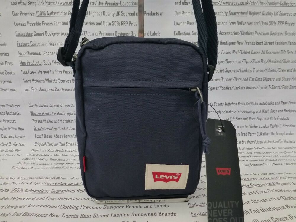 Details about LEVI S Mini Body Bag Canvas Shoulder Bags Navy White Small  Messenger Sack BNWT 12d03f131f53b