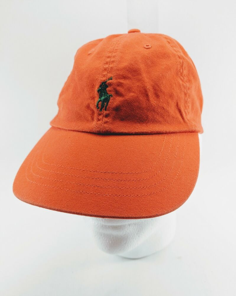 c3893f104b8 Details about Polo Ralph Lauren Men s Cotton Chino Baseball Cap Sports Hat  Orange One Size