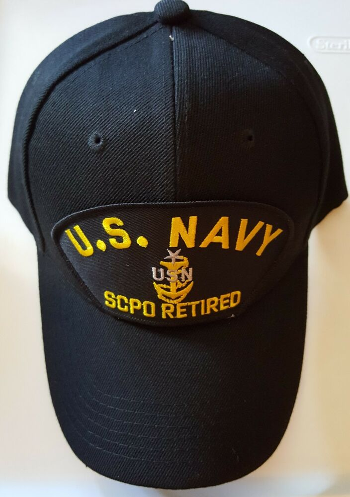 Details about U.S. NAVY SCPO (SENIOR CHIEF PETTY OFFICER) RETIRED Military Ball  Cap 6fee91695b6