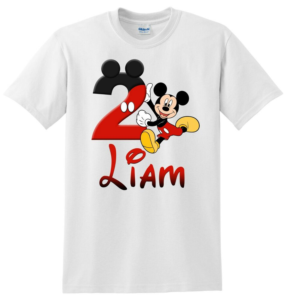 Details About Mickey Mouse Birthday Shirt Personalized Bodysuit