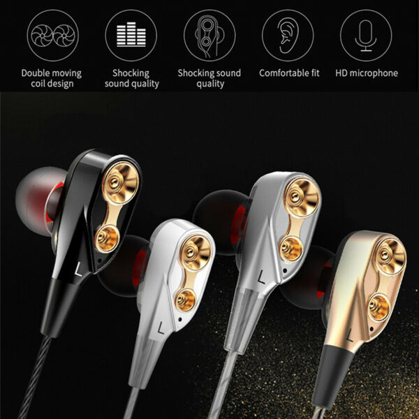 Headphone Headset Earphone Earbuds 3.5mm With Mic Super Bass Music In ear Stereo
