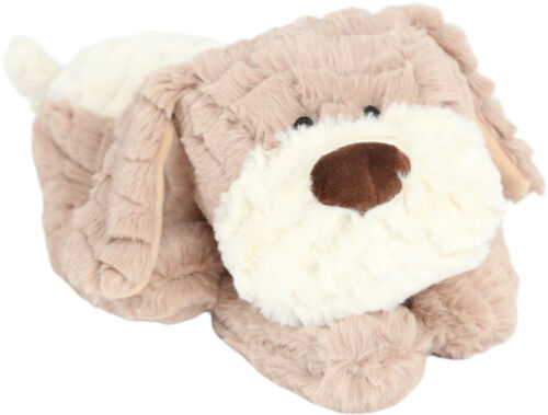 Warmsie Huggable Beige Dog Unscented Wheat Filled Fully Microwavable Toy