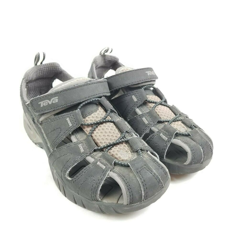 8c86fb2032926 Details about Kids TEVA DOZER 3 Black Water Hiking Trail Sport Vacation  Sand Beach Boat Shoes